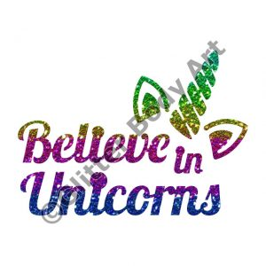 Glitter Tattoo Stencils - 449 Believe in Unicorns