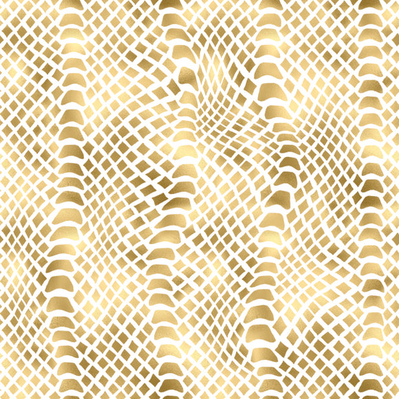 FABArt Custom Print Fabric - A02 Animal Print Gold 02 - send us preferred background colour