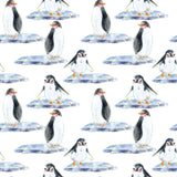 FABArt Custom Print Fabric - S01 Arctic Penguins