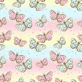 FABArt Custom Print Fabric - B03 Bear & Friends Butterflies