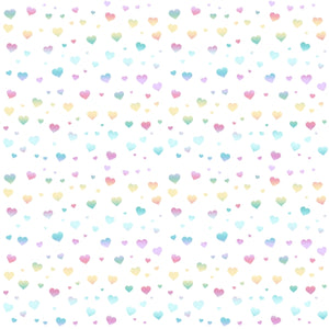 FABArt Custom Print Fabric - B03 Bear & Friends Hearts