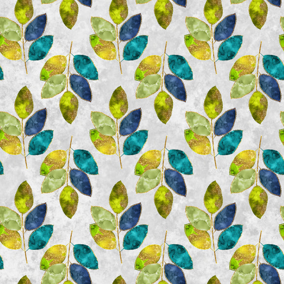 FABArt Custom Print Fabric - F01 Colourful Leaves 15