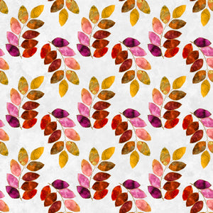 FABArt Custom Print Fabric - F01 Colourful Leaves 18