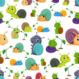 FABArt Custom Print Fabric - A02 Cute Creatures 09 Snails