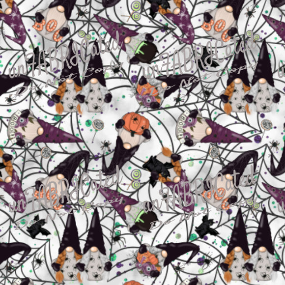 Designer Fabric - per metre - SA Designer unFABRICated- Halloween Gnomes (printed without watermark)-The Face Painters South Africa for Custom-Printed Fabric and Facepaint Supplies