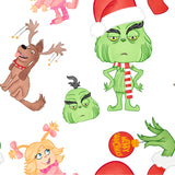 FABArt Custom Print Fabric - B02 BeWhiskered He Stole Christmas