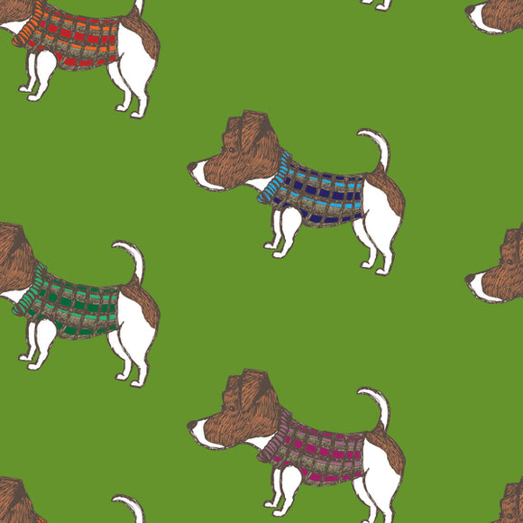 FABArt Custom Print Fabric - Showcase SA Designer Joey and Jo - Jack Russels (confirm background colour)
