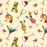 FABArt Custom Print Fabric - Showcase SA Designer Joey and Jo - Mommy Needs a Cocktail Lemon