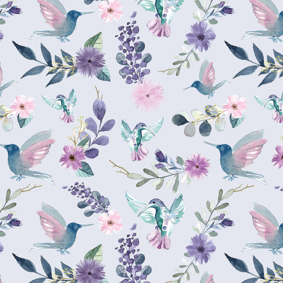 FABArt Custom Print Fabric - Showcase SA Designer Joey and Jo - Luka's Hummingbird