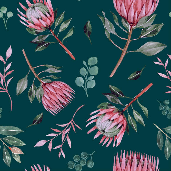 FABArt Custom Print Fabric - Showcase SA Designer Joey and Jo - Protea 01