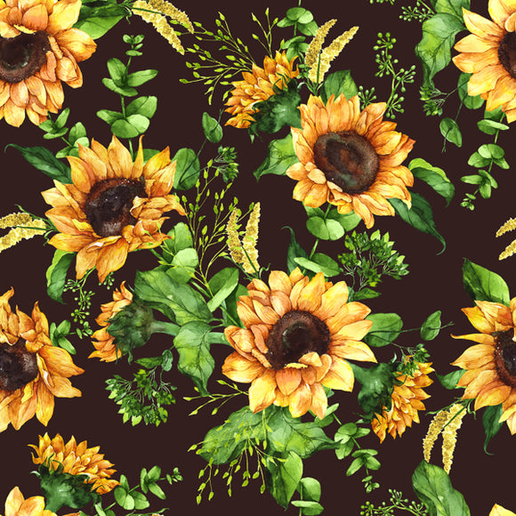 FABArt Custom Print Fabric - F01 Sunflowers 02
