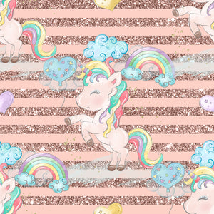 FABArt Custom Print Fabric - U01 Unicorn Dreams 12