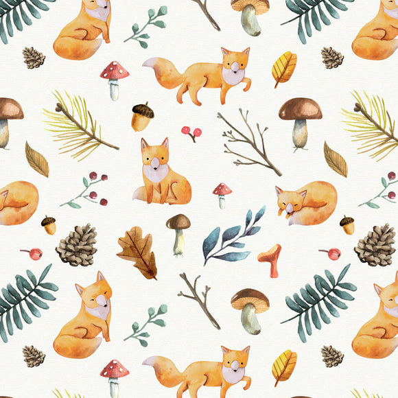 FABArt Custom Print Fabric - Showcase SA Designer Joey and Jo - What Does The Fox Say