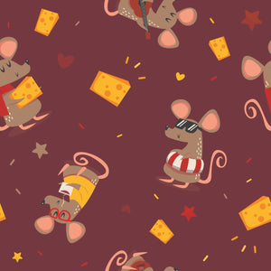 FABArt Custom Print Fabric - Showcase SA Designer Joey and Jo - Jo the Mouse