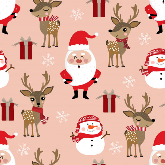 FABArt Custom Print Fabric - C03 Cute Christmas 05