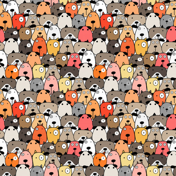 Designer Fabric - per metre - Cute Dogs-The Face Painters South Africa for professional face paint supplies