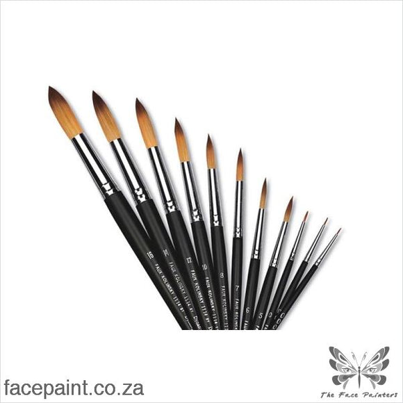 Dynasty Faux Kolinsky Face Painting Brush Round Brushes