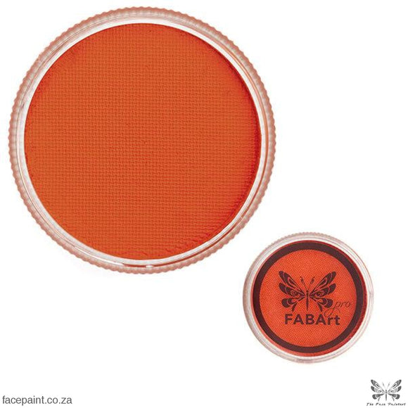 Fabart Pro Face Paint Matte Bright Orange