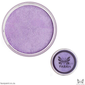 Fabart Pro Face Paint Shimmer Lilac Paints