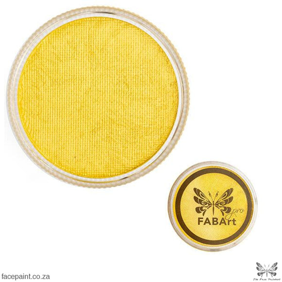 Fabart Pro Face Paint Shimmer Yellow Paints
