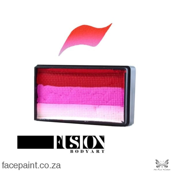 Fusion Face Paint Split Cake Bold Rose Paints