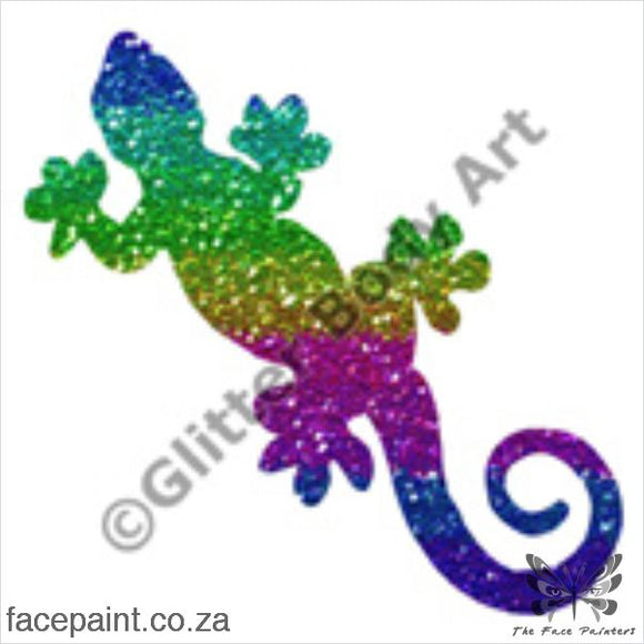 Glitter Tattoo Stencils - 009 Gecko Tattoos