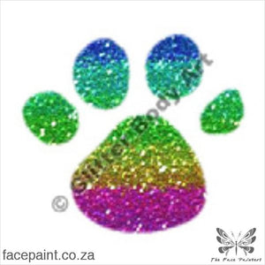 Glitter Tattoo Stencils - 019 Paw Tattoos