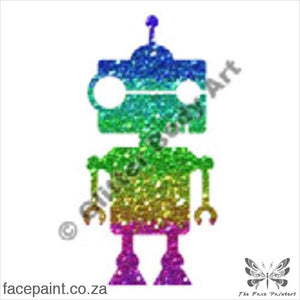 Glitter Tattoo Stencils - 040 Robot Tattoos