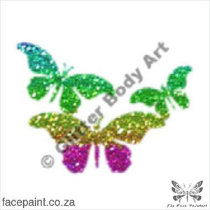 Glitter Tattoo Stencils - 077 Butterfly Tattoos
