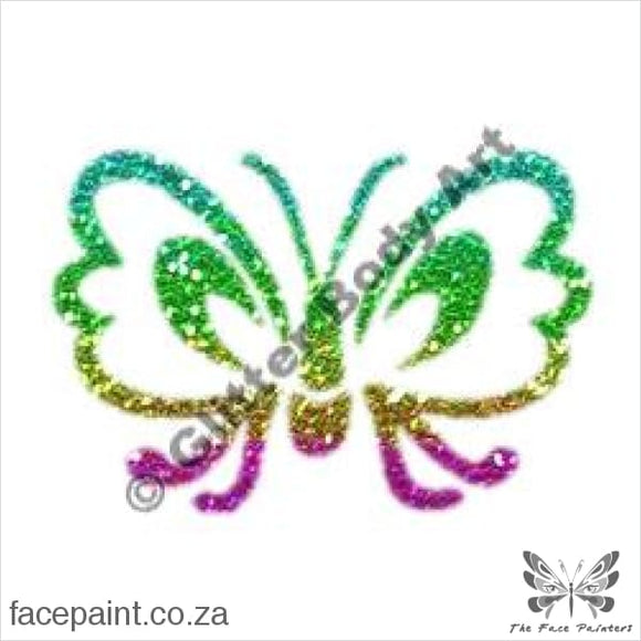 Glitter Tattoo Stencils - 080 Butterfly Tattoos