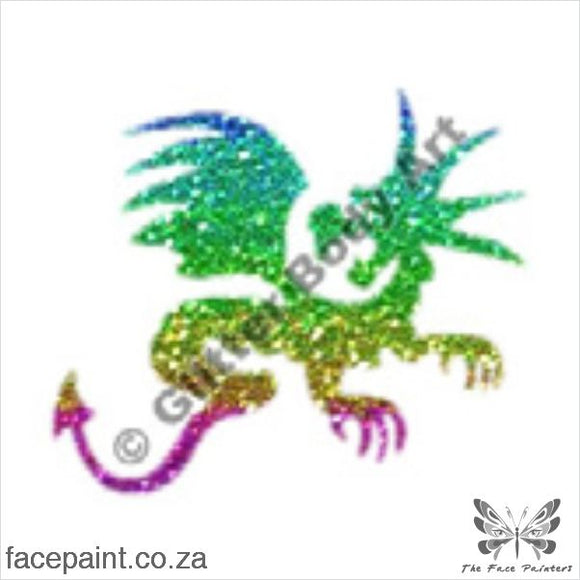 Glitter Tattoo Stencils - 088 Dragon Tattoos