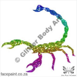 Glitter Tattoo Stencils - 092 Scorpion Tattoos