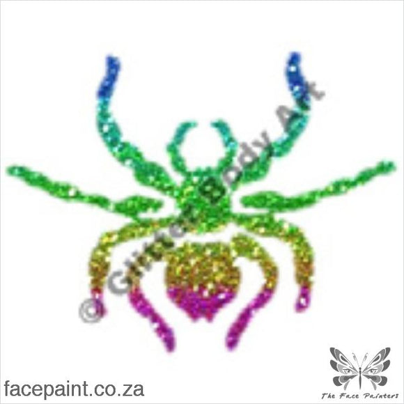 Glitter Tattoo Stencils - 093 Spider Tattoos