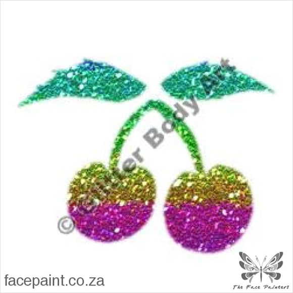 Glitter Tattoo Stencils - 104 Cherries Tattoos