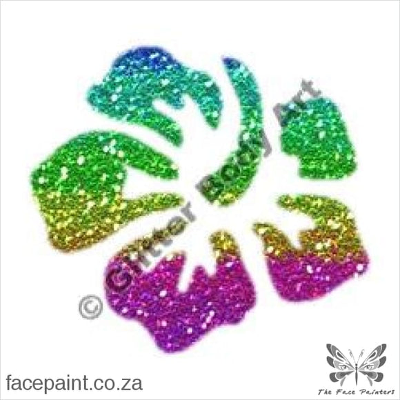 Glitter Tattoo Stencils - 108 Hibiscus Tattoos