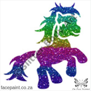 Glitter Tattoo Stencils - 120 Pony Tattoos