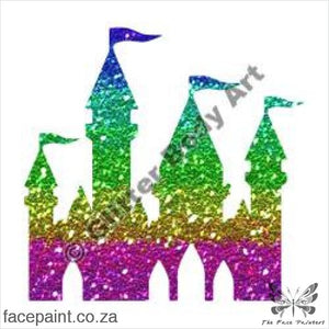 Glitter Tattoo Stencils - 132 Fairy Castle Tattoos
