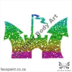 Glitter Tattoo Stencils - 138 Princess Castle Tattoos