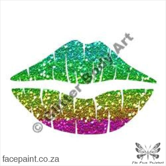 Glitter Tattoo Stencils - 146 Lips Tattoos