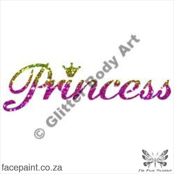 Glitter Tattoo Stencils - 148 Princess Tattoos