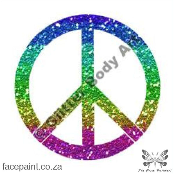 Glitter Tattoo Stencils - 155 Peace Sign Symbol Tattoos