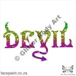 Glitter Tattoo Stencils - 157 Devil Tattoos