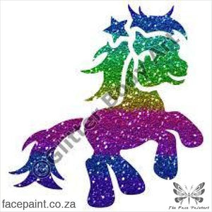 Glitter Tattoo Stencils - 174 Pony Star Tattoos