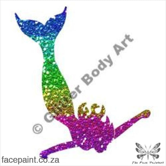 Glitter Tattoo Stencils - 183 Mermaid Tattoos