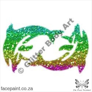 Glitter Tattoo Stencils - 189 Dancing Dolphins Tattoos