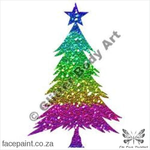 Glitter Tattoo Stencils - 201 Christmas Tree Tattoos
