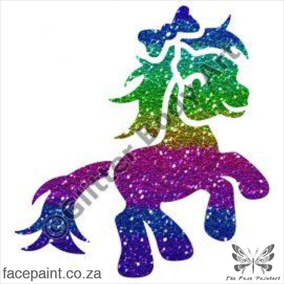 Glitter Tattoo Stencils - 211 Pony Bow Tattoos