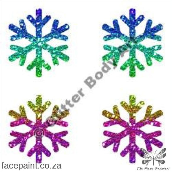 Glitter Tattoo Stencils - 217 Mini Snowflakes Tattoos