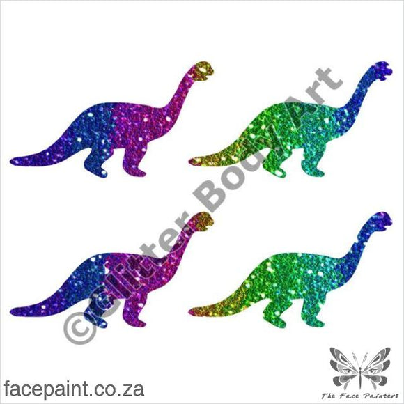 Glitter Tattoo Stencils - 232 Mini Dinosaurs Tattoos