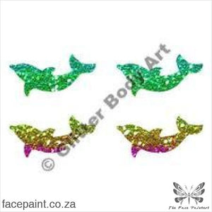 Glitter Tattoo Stencils - 236 Mini Dolphin Tattoos